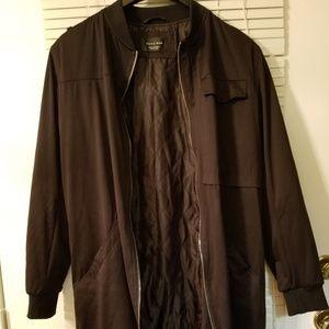 Zara Mens Long Bomber Jacket.